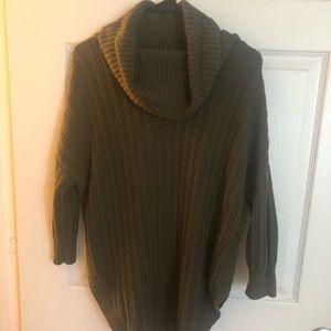 EXPRESS sweater M Light hunter green